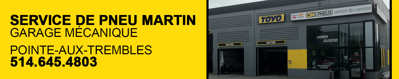 service de pneu martin-garage mécanique